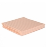 Just Linen Orange Cotton Queen Size Flat Bedsheet - Set of 3