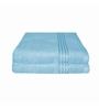 Just Linen Sky Blue Cotton 16 x 24 Hand Towel - Set of 2