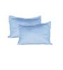 Just Linen Sky Blue Cotton Single Size Flat Bedsheet - Set of 4