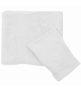 Just Linen White Cotton 16 x 24 Hand Towel - Set of 2