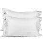 Just Linen White Cotton King Size Flat Bedsheet - Set of 3