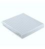 Just Linen White Cotton Queen Size Flat Bedsheet - Set of 3