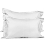 Just Linen White Cotton Single Size Flat Bedsheet - Set of 2
