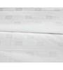 Just Linen White Cotton Single Size Flat Bedsheet - Set of 4