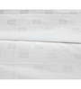 Just Linen White Cotton Single Size Flat Bedsheet - Set of 4