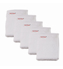 Just Linen White Cotton Terry 13 x 13 Face Towel - Set of 5