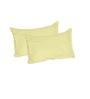 Just Linen Yellow Cotton Queen Size Flat Bedsheet - Set of 3