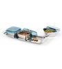 JVL Mini Designer Blue Stainless Steel 200 ML 4-piece Dry Fruit Set