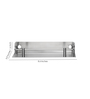 Jwell Silver Stainless Steel 8.6 X 3.9 X 1.6 Inch Bathroom Shelf