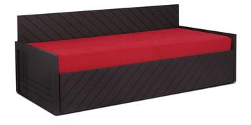 Kaiden Slider Sofa Cum Bed In Red Colour By Auspicious
