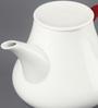 Kahla Touch Red & White Porcelain 1500 ML Five Senses Teapot