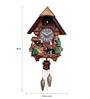 Kairos Brown Polyester 15 x 6 x 20 Inch Chalet Musical Quartz Cuckoo Clock