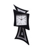 Kaiser Black Wooden 22 x 14 Inch Square Pendulum with Roman Digits Clock