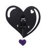 Kaiser Purple Glass 15.7 x 15.2 Inch Heart-shape Wall Clock