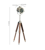 Kaiser Tripod Lamp in Silver by Bohemiana