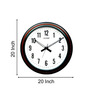 Kaiser Brown & Classic Black Wooden 12 x 12 Inch Wall Clock