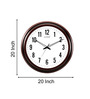 Kaiser Brown Wooden 20 Inch Round Classic Cola Wall Clock