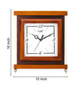 Kaiser Shades of Brown Wooden 10 x 11 Inch Rectangular Wall Clock