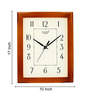 Kaiser Brown Wooden 8 x 10 Inch Rectangular Wall Clock