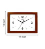 Kaiser Brown Wooden 8 x 10 Inch Simple Charm Wall Clock