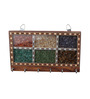 Kalaplanet Gemstone Multicolor Wooden 7 x 1 x 5 Inch Key Holder