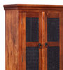 Kalaya Handcrafted Wardrobe in Honey Oak Finish by Mudramark
