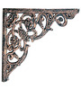 Karara Mujassme Cast Aluminium Victorian Style Antique Gold Shelf L-Bracket
