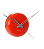 Karlsson Orange Ceramic 5.3 Inch Round Wall Clock
