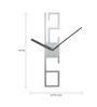 Karlsson Silver Aluminium 3.9 x 19.7 Inch Square Frame Wall Clock