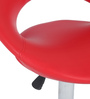 Kayam Bar Stool in Red by The Furniture Store