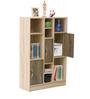 Kazuki Filing Cabinet cum Book Shelf in Oak Finish by Mintwud