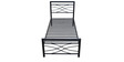 Kelly Single Size Bed in Black Colour by Eros