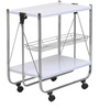 Keev Folding Serving Cart in White colour by @Home