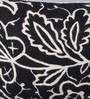 KEH Black Wool & Cotton Embroidery 12 x 18 Inch Artistic Handmade Chain Stitch Cushion Cover