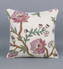 KEH Multicolour Cotton & Wool 20 x 20 Inch Rose Cushion Cover