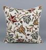 KEH Multicolour Cotton & Wool 20 x 20 Inch Chinar Cushion Cover