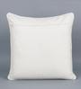 KEH Multicolour Cotton & Wool 20 x 20 Inch New Big Flower Cushion Cover