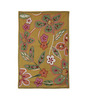 KEH Multicolour Wool Hand Embroidered Floral Area Rug