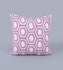KEH Radiant Orchid Wool & Cotton Embroidery 20 x 20 Inch Artistic Handmade Chain Stitch Cushion Cover