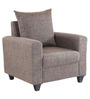 Keiko One Seater Sofa in Brown Colour by Looking Good Furniture