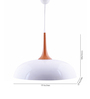 Kenshodesigners White Metal Pendant Light