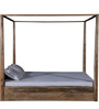 Freemont King Poster Bed with Storage In Natural Finish by Woodsworth