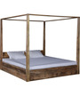 Freemont King Poster Bed In Natural Mango Wood Finish by Woodsworth