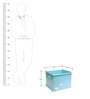 Kids Toy Storage Open Box in Light Blue Colour by FlyFrog