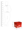 Kids Toy Storage Open Box in Red Colour by FlyFrog