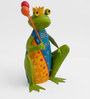King Frog In Festive Mood Figurine by The Yellow Door