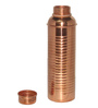 King International Stainless Steel and Copper Glasses with Lining Bottle - Set of 7