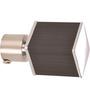 Kipwel Black Steel 3 x 2 Inch Cuboid Curtain Bracket - Set of 2
