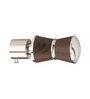 Kipwel Brown Steel 3 x 2 Inch Elite Curtain Bracket - Set of 2