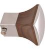 Kipwel Brown Steel 3 x 2 Inch Fashionable Curtain Bracket - Set of 2